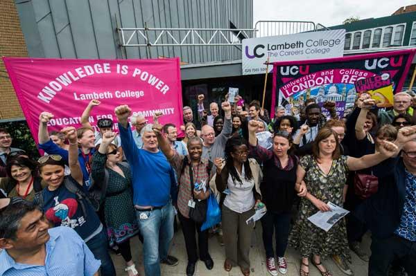 Lambeth College Picket